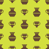 Vases Silhouettes Seamless Pattern