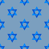 Stars of David Isolated Seamless Pattern