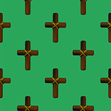 Wood Cross Seamless Pattern