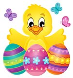 Chicken with Easter eggs theme image 1