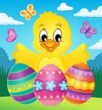Chicken with Easter eggs theme image 2