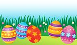 Decorated Easter eggs theme image 7