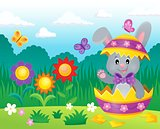 Easter bunny in eggshell theme image 3
