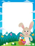 Frame with Easter basket and bunny 3