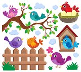 Stylized birds theme set 2