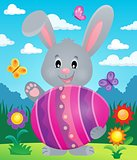Stylized bunny with Easter egg theme 6