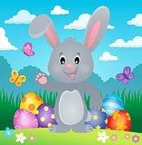 Stylized Easter bunny theme image 1