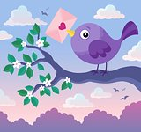 Valentine bird with envelope theme 1