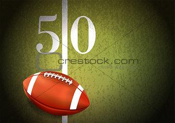 American Football on Turf Field Illustration