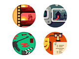 Genre cinema set icons
