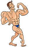 bodybuilder cartoon character
