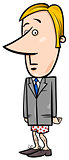 businessman without pants cartoon