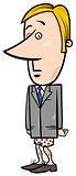businessman without pants cartoon