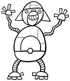 monkey robot coloring page