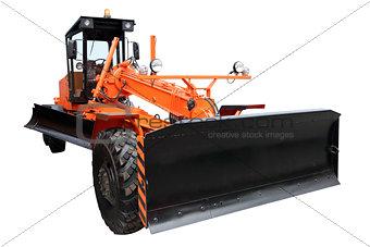 Modern orange grader