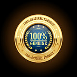 Genuine, original product golden insignia (medal)