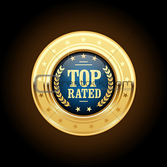 Top rated golden insignia - appreciated medal