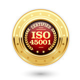 ISO 45001 certified medal - occupational health and safety insig