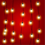 Hanging vertical Christmas Lights garlands