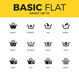 Basic set of Basket icons