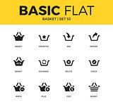 Basic set of Basket icons