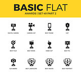 Basic set of video Awards icons