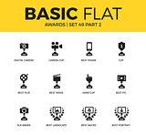 Basic set of video Awards icons