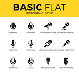 Basic set of Microphone icons