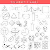 Geometry outline vector shapes.
