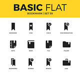 Basic set of bookmark icons