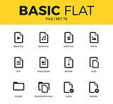 Basic set of file icons