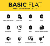Basic set of Smart watch media icons
