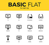 Basic set of TV icons