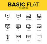 Basic set of TV icons