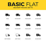 Basic set of Delivery trucks icons