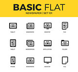 Basic set of Newspaper icons