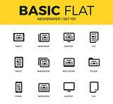 Basic set of Newspaper icons