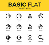 Basic set of Target icons