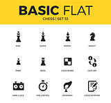 Basic set of chess icons