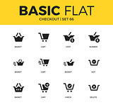 Basic set of checkout icons