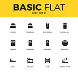 Basic set of bed icons