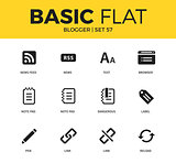 Basic set of blogger icons