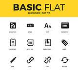 Basic set of blogger icons
