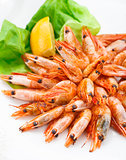 Fried shrimps on a plate