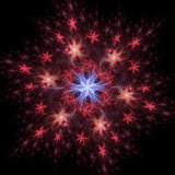 Abstract background. Fractal design. Star pattern
