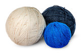 Several coils wool yarn in different colors
