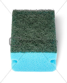Single sponge for washing dishes perspective