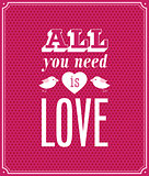 All you need is love typographic design.