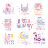 Baby Nursery Room Print Design Templates Collection In Cute Girly Manner With Text Messages