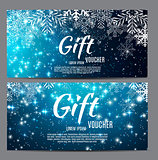 Christmas and New Year Gift Voucher, Discount Coupon Template Ve